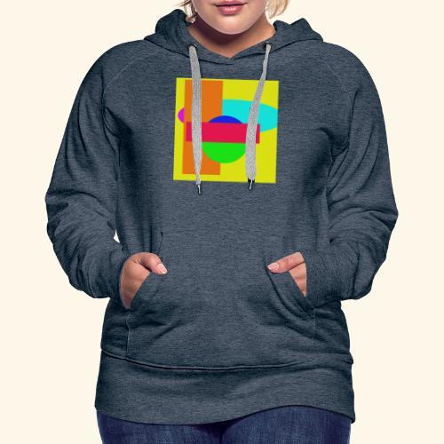 Pop-art71 - Felpa con cappuccio premium da donna