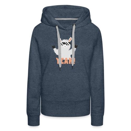 Cool Llama YEAH! - Dame Premium hættetrøje