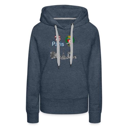 Paris france - Sweat-shirt à capuche Premium pour femmes