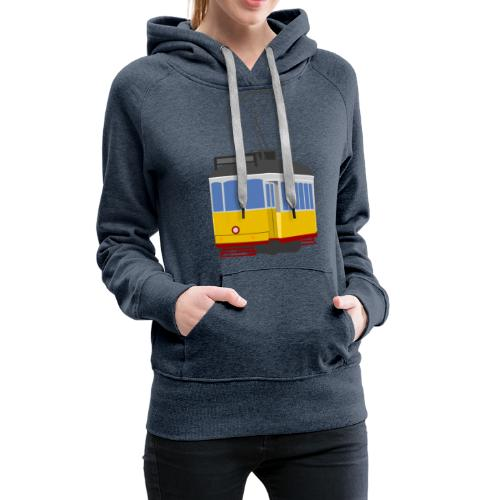 Tram car yellow - Women's Premium Hoodie