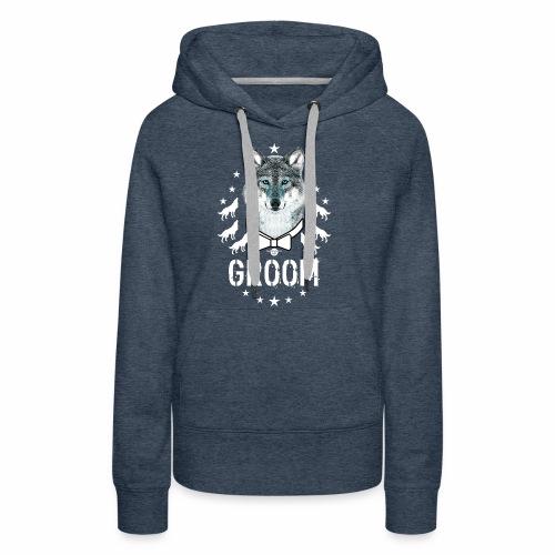 161 Wolf JGA GROOM Wolfpack Sterne - Frauen Premium Hoodie