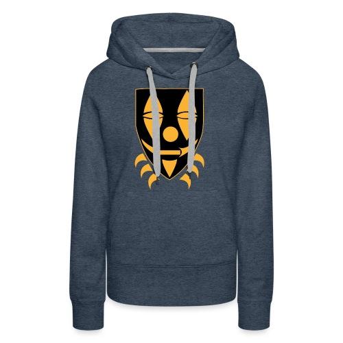 Mask only gold n black png - Vrouwen Premium hoodie