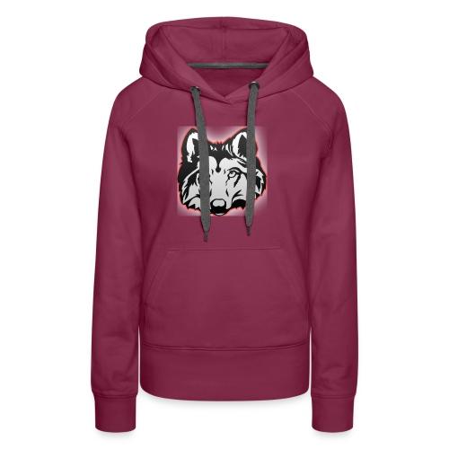 Wolfie (Red) - Women's Premium Hoodie