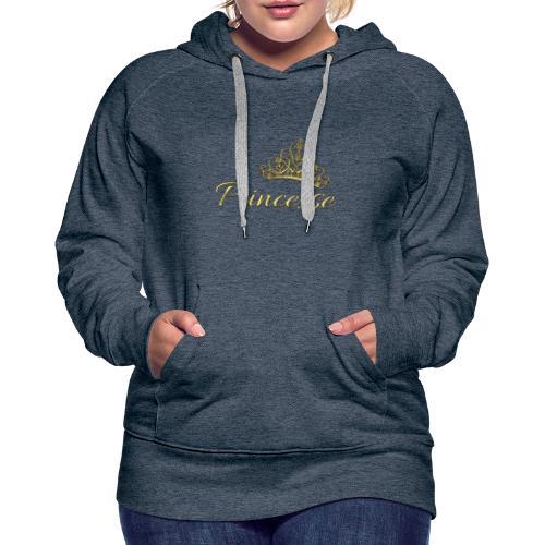Princesse Or - by T-shirt chic et choc - Sweat-shirt à capuche Premium pour femmes