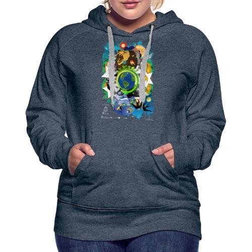 Terre Mère Nature -by- T-shirt chic et choc - Sweat-shirt à capuche Premium pour femmes