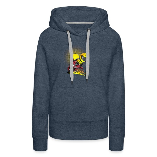 0791 fjr ROOD sun - Vrouwen Premium hoodie