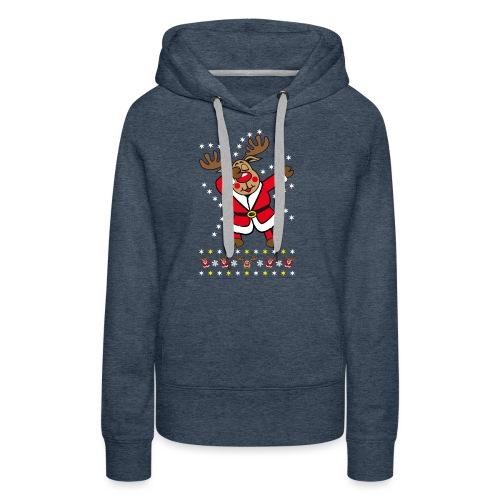 87 Dabbing Reindeer Rentier Hirsch Rudolph Funny - Frauen Premium Hoodie