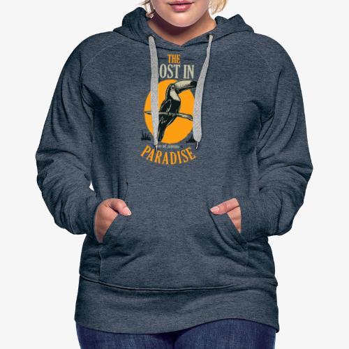Oiseau - Sweat-shirt à capuche Premium pour femmes