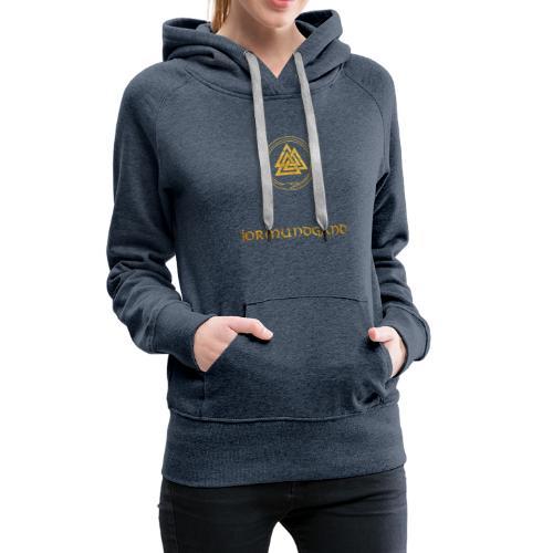 jormundgand guld - Dame Premium hættetrøje