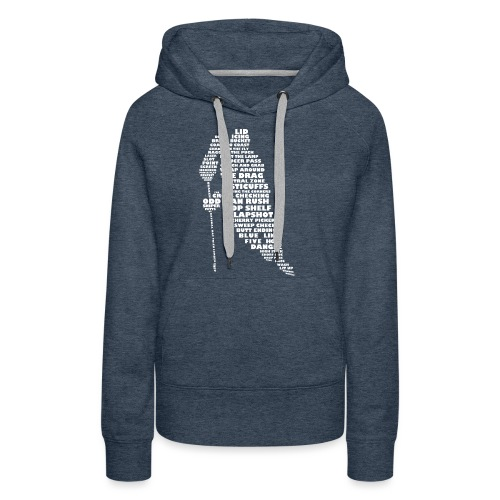 Language of Hockey (White) - Women's Premium Hoodie