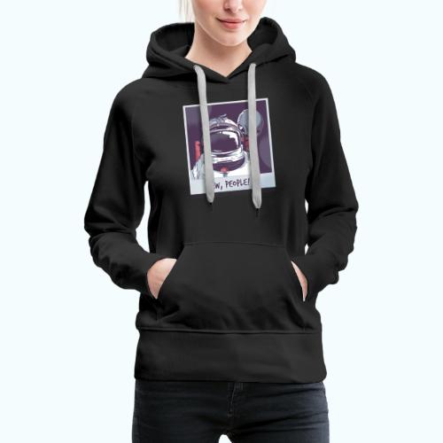 Aliens and astronaut - Women's Premium Hoodie