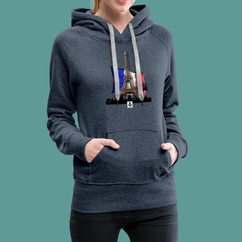 Tee shirt marque mutagene PARIS - Sweat-shirt à capuche Premium pour femmes