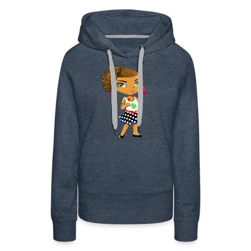 Manga chibi cute - Sweat-shirt à capuche Premium pour femmes