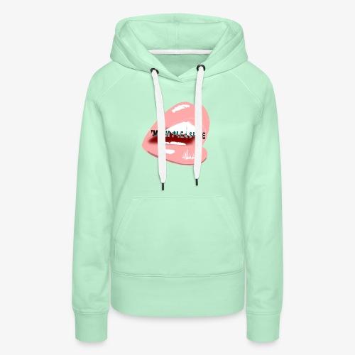 With Pleasure Mouth Logo - Women's Premium Hoodie