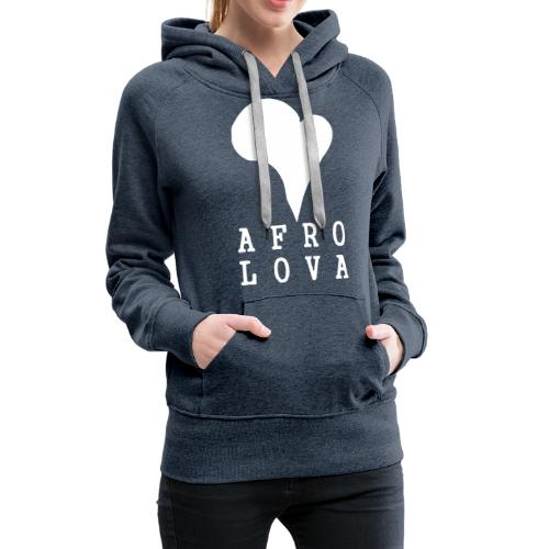 Afro Lova Original - Sweat-shirt à capuche Premium pour femmes