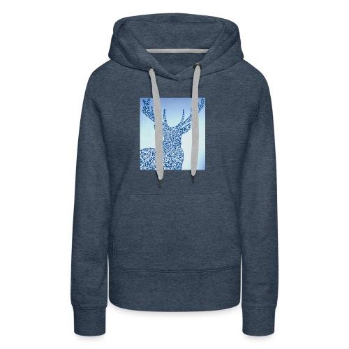 Cerf Chevreuil Chasse - Sweat-shirt à capuche Premium pour femmes
