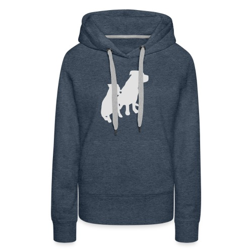 Doggy / zwei brave Hunde zum verschenken - Frauen Premium Hoodie