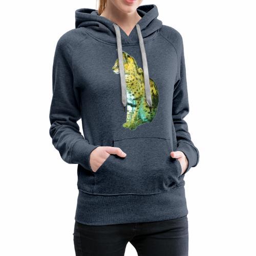 Schöner sitzender Serval - Frauen Premium Hoodie