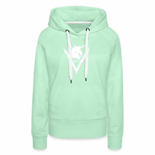 Brand RLL White - Felpa con cappuccio premium da donna