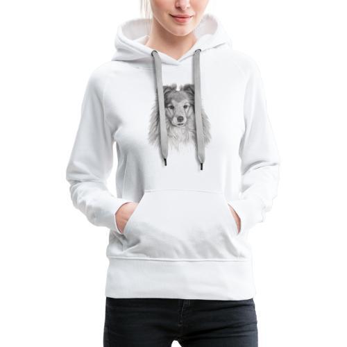 shetland sheepdog sheltie - Dame Premium hættetrøje