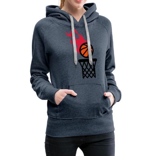 fire basketball - Women's Premium Hoodie
