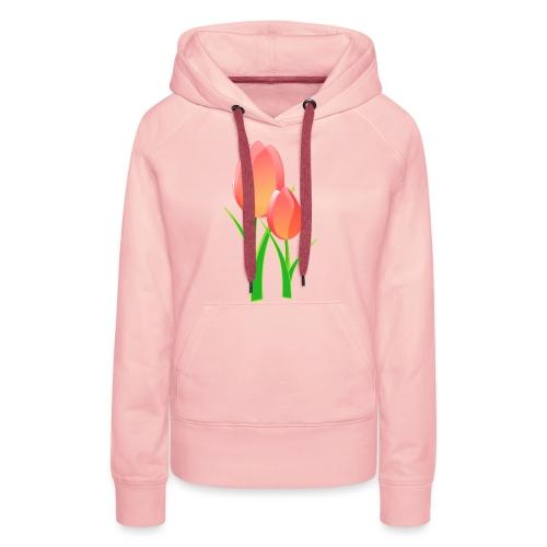 Belle fleur - Sweat-shirt à capuche Premium pour femmes