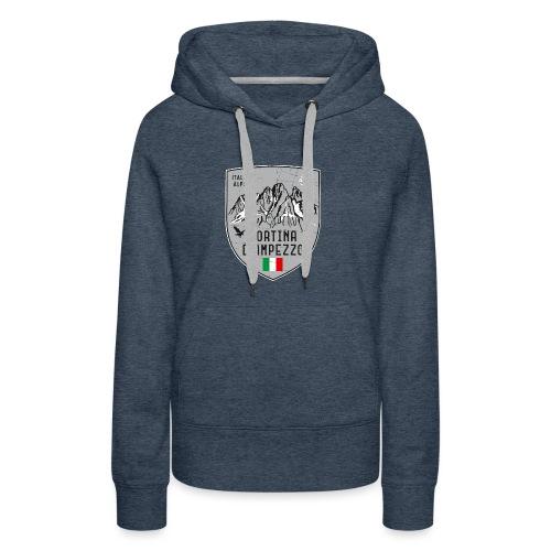 Cortina d Ampezzo Italien Wappen - Women's Premium Hoodie