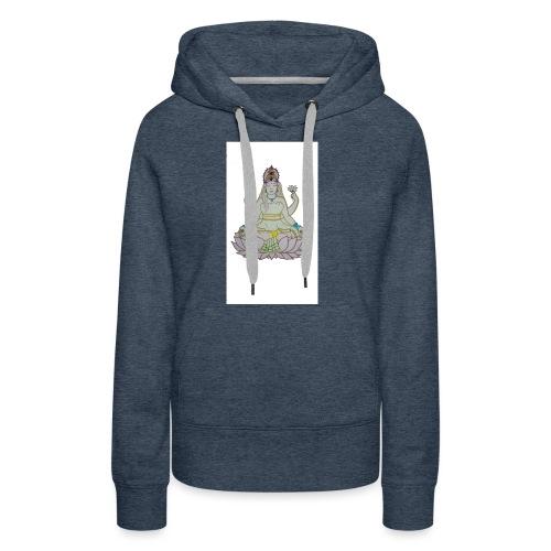 indu - Sudadera con capucha premium para mujer