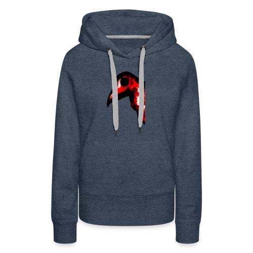 Oiseau rouge de feu - Sweat-shirt à capuche Premium pour femmes