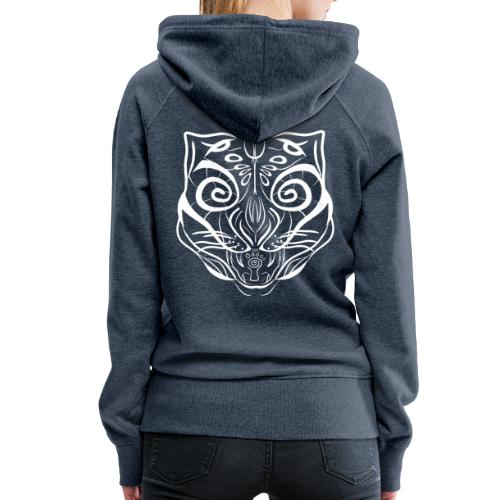 The Parvati Cat by Stringhedelic - White - Women's Premium Hoodie