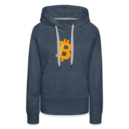 Bitcoin addict - Sweat-shirt à capuche Premium pour femmes