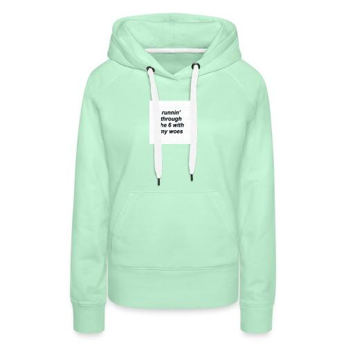 cap woes - Vrouwen Premium hoodie