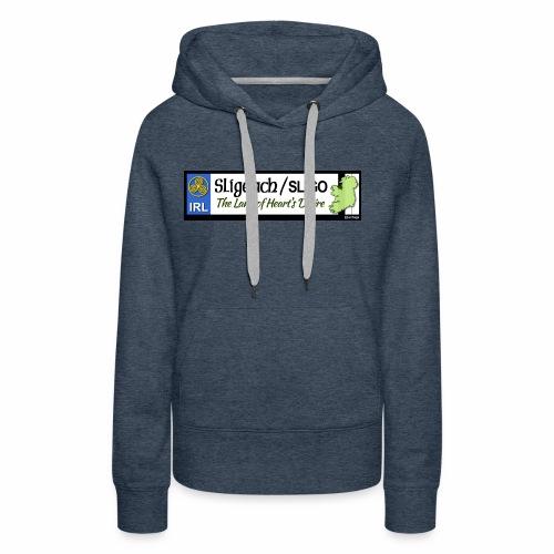CO. SLIGO, IRELAND: licence plate tag style - Women's Premium Hoodie