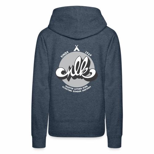 MLK scouting 50 jaar - wit - Vrouwen Premium hoodie