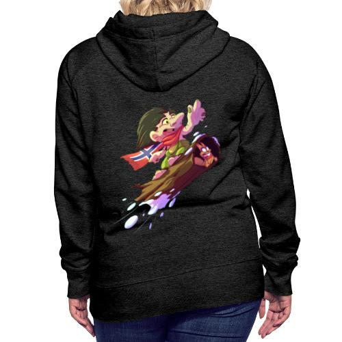 Snowboarder troll - Women's Premium Hoodie