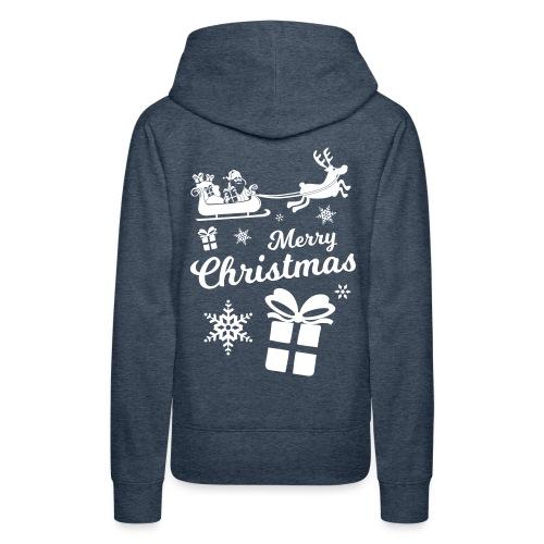 merry_christmas_3 - Sweat-shirt à capuche Premium pour femmes