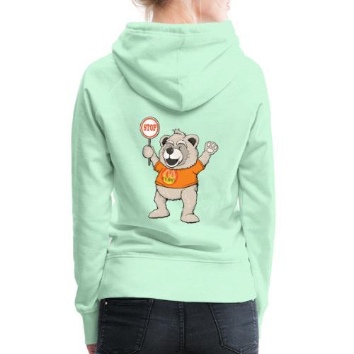 FUPO der Bär. Druckfarbe bunt - Frauen Premium Hoodie