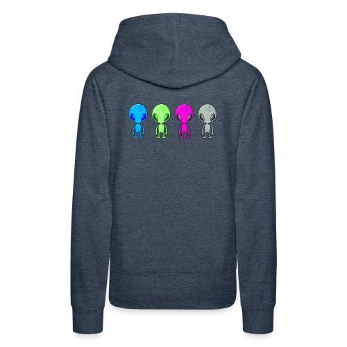 Multicolored Aliens - Women's Premium Hoodie