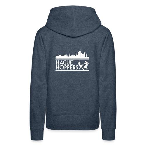 HH white logo back - Vrouwen Premium hoodie