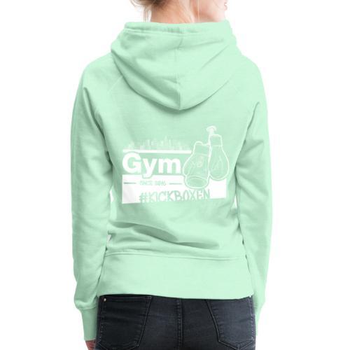 Gym Druckfarbe weiss - Frauen Premium Hoodie