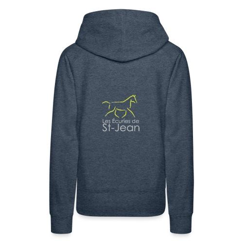 Ecuries de St Jean - Sweat-shirt à capuche Premium pour femmes