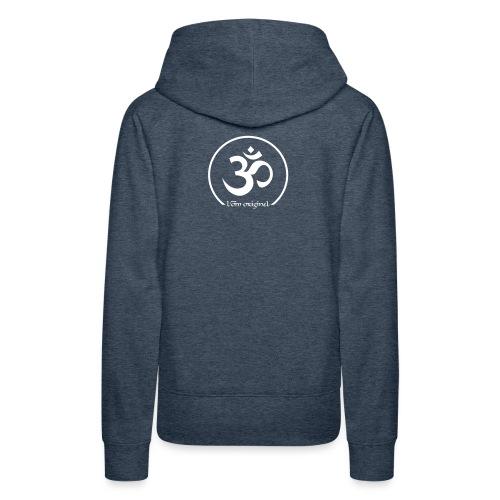 tee shirt yoga je vis le moment présent - Sweat-shirt à capuche Premium pour femmes