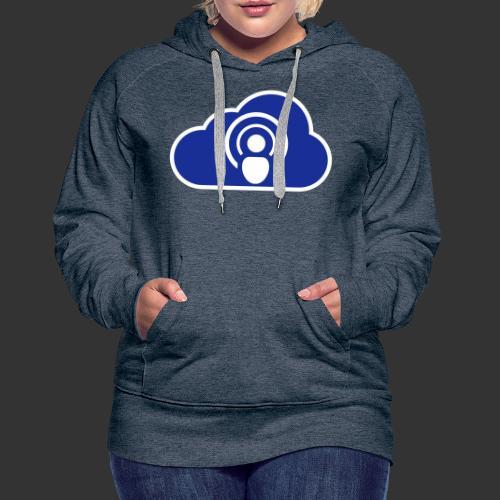podCloud - Logo 2020 - Sweat-shirt à capuche Premium pour femmes