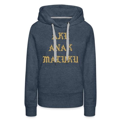 Aku Anak Maluku goud png - Vrouwen Premium hoodie