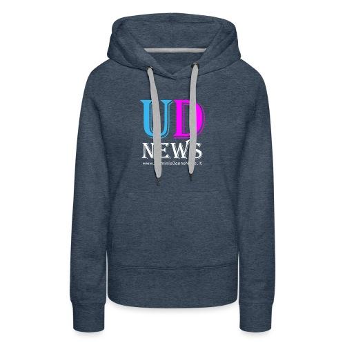 La maglietta di Uomini e Donne News scura - Felpa con cappuccio premium da donna