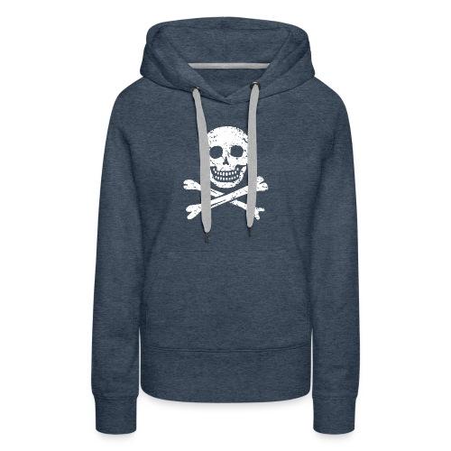 Skull & Crossbones - Distressed - Women's Premium Hoodie