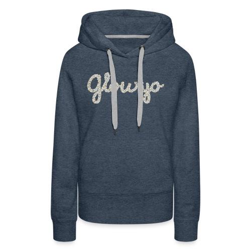 Glow yo ontwerp zilver - Vrouwen Premium hoodie