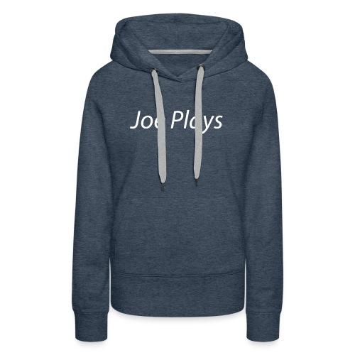 Joe Plays White logo - Premium hettegenser for kvinner