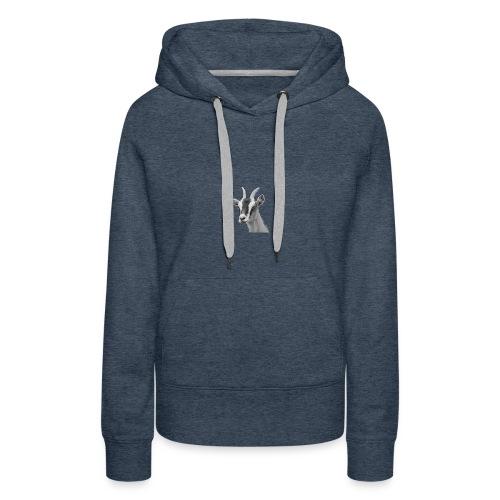 Ziegenkopf schwarzweiss freigestellt - Frauen Premium Hoodie