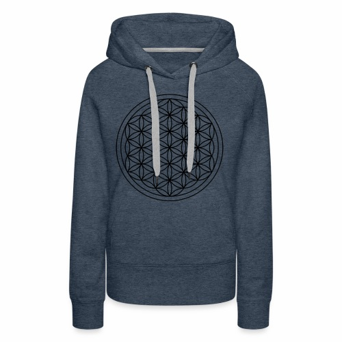 Flower Of Life - This Design Will Heal You - Dame Premium hættetrøje